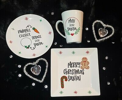 £1.50 • Buy Christmas Eve Santa/reindeer Vinyl Stickers For Plates And Mugs * Sticker Only*