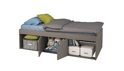 £64.99 • Buy Kids Childs Teen Single 3ft Cabin Storage Bed Grey 90 X 190 Cm - USED