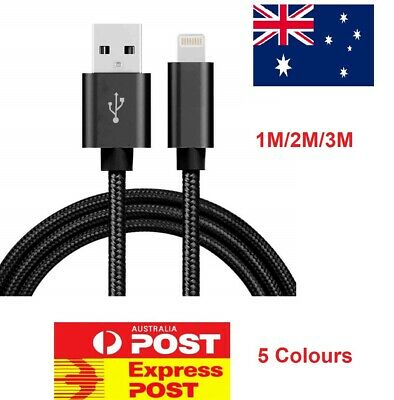 AU5.99 • Buy Braided USB Charger Cable Cord For IPhone 12 11 Pro Max 7 Xs 8 6 IPad Data Fast
