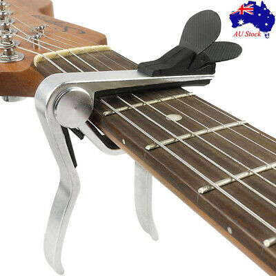 AU9.99 • Buy Alloy Capo For Acoustic Electric Guitar Quick Change With Pick Holder Design AU
