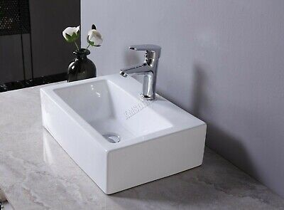 £17.99 • Buy Perfect Rectangle WestWood Counter-top Sink Ceramic Hand Basin Vanity Cloakroom
