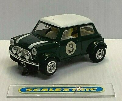 £26.99 • Buy Scalextric 1993/5 C328a Mini Cooper Green White Roof & Stripes #3 (excellent)