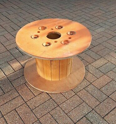 £29.99 • Buy Wooden Cable Drum Reel Spool Retro Garden Coffee Table Industrial Upcycle  Wood