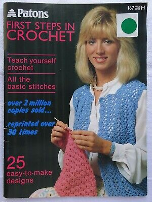£1.99 • Buy Patons First Steps In Crochet Instruction / Pattern Book
