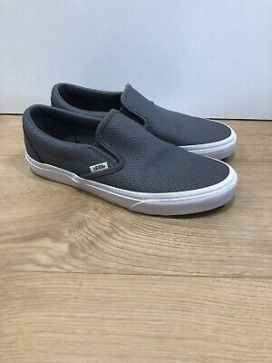 £35.99 • Buy Vans Classic Slip On Perf Leather Smoked Pearl UK Size 7 VGC Worn Once
