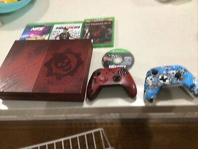 AU345 • Buy Xbox One S Limited Edtion Gears Of War 4 Console Comes With 4 Games