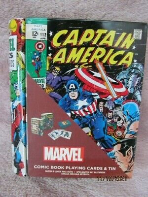 £14.99 • Buy Official Marvel Comic Book Playing Cards Book Tin New Sealed Pack