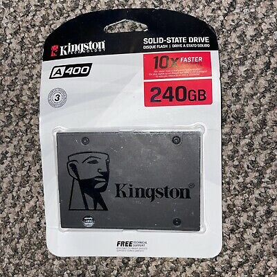 £18 • Buy Kingston A400 240GB 2.5  Solid State Drive SSD 6Gbps 3D NAND SA400S37/240G Zz