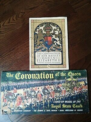 £10 • Buy Coronation Of Her Majesty Queen Elizabeth Approved Souvenir Programme And Model