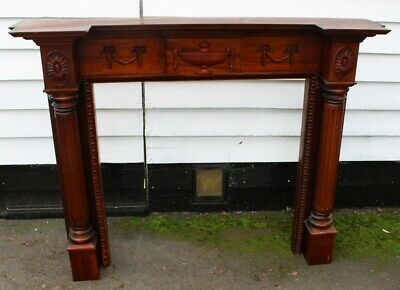 £150 • Buy 1990s Carved Mahogany Fire Surround