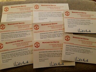 £0.99 • Buy 8 Used Manchester United Executive Box TICKETS