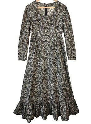 £32.95 • Buy 70s Vintage Prairie Maxi Dress 12 Tall Floral Country Edwardian Style