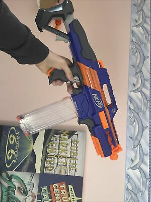 AU44.44 • Buy NERF RAPIDSTRIKE CS-18 Dart BLASTER WITH BATTERIES CLEAR MAG AND DARTS WORKING!