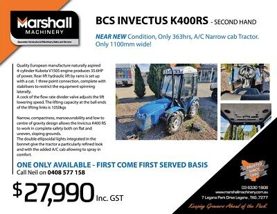 AU27990 • Buy Farm Tractors For Sale Used