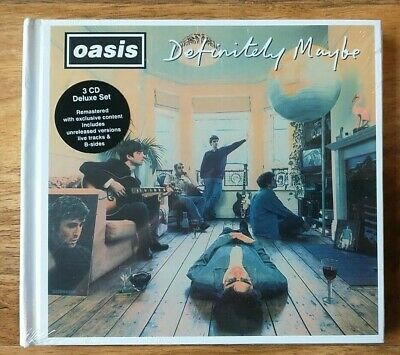 £19.99 • Buy OASIS - Definitely Maybe (DELUXE 3CD BOOK) Brand New (RARE)