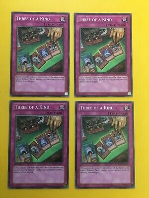 £2.99 • Buy THREE OF A KIND - REDU-EN077 - NON HOLO - MIXED EDITION - YU-GI-OH CARDS X 4