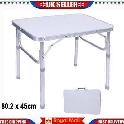 £23.99 • Buy 4ft Folding Camping Table Aluminium Picnic Portable Adjustable Party Bbq Outdoor
