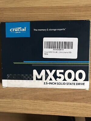 £17 • Buy Crucial MX500 500GB 2.5  Solid State Drive (CT500MX500SSD1)