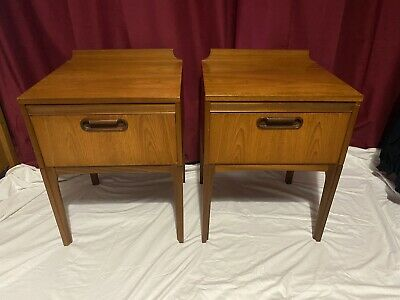 £150 • Buy William Lawrence Pair Of Teak Bedside Tables , Good Condition