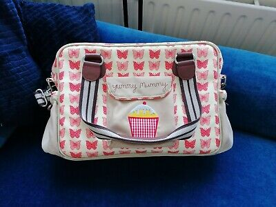 £18 • Buy Pink Lining Red Butterfly Print Yummy Mummy Changing Bag