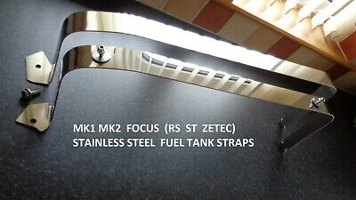 £44.95 • Buy Ford Focus Mk1 (rs-zetec-st-1.8 Tddi) Polished Stainless Steel Fuel Tank Straps