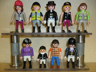 £11.99 • Buy PLAYMOBIL JOCKEY RIDERS + STABLE HANDS (Farm Workers For Horses)