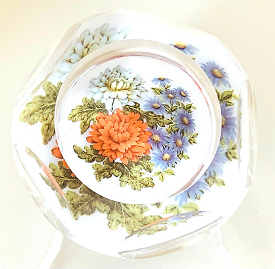 £190 • Buy  Whitefriars Rare Experimental Floral Art Glass Paperweight Geoffrey Baxter
