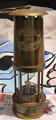 £24.99 • Buy E.Thomas+Williams, Aberdare Cambrian Welsh Brass Miners Lamp