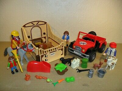 £14.99 • Buy PLAYMOBIL FARM / STABLE SET (Horse Stall,Jeep,Animals)