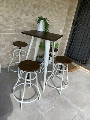 AU450 • Buy 4 Stool And Bar Table Outdoor Setting