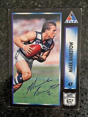 AU5.50 • Buy Geelong Cats Afl Signed Cards X 4, Mark Bairstow