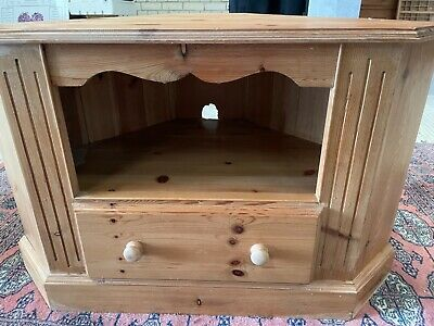 £35 • Buy Pine Corner Cupboard and TV Unit With Drawer