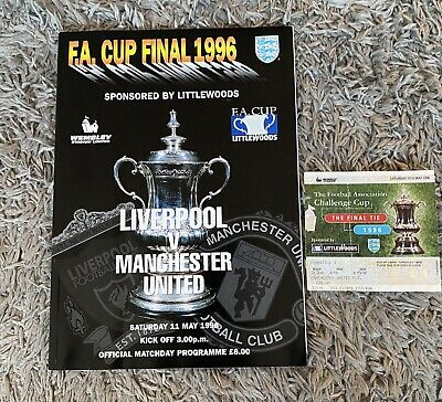 £16 • Buy Liverpool Vs Manchester United Programme. 1996. Fa Cup Final & Ticket