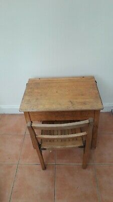 £40 • Buy Vintage Childs School Desk And Chair