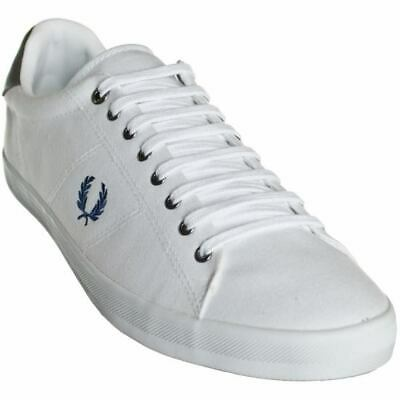 £59.99 • Buy FRED PERRY Tennis Shoes White Plimsolls Twill B7467 Howells Size: UK 6 EU 39