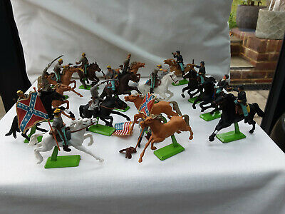 £30 • Buy Britains Deetail ACW Mounted Confederate & Union Soldiers 7439 & 7449