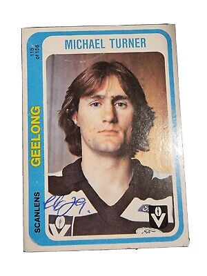 AU9.99 • Buy Geelong Cats Afl Signed Card Of Michael Turner