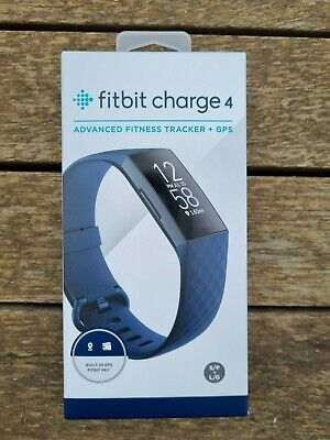 AU110.50 • Buy BRAND NEW - Fitbit Charge 4 Health Fitness Tracker Watch - Storm Blue (417BKNV)