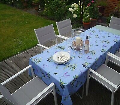 £26 • Buy Tablecloth Provence 150x300 CM Olives Blue France Non-Iron Easy-Care