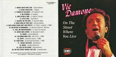 £3.49 • Buy Vic Damone - On The Street Where You Live - Vic Damone CD UIVG The Cheap Fast