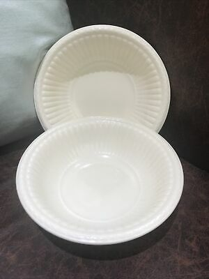 £14.99 • Buy Wedgwood - Queens Ware - EDME - Pair Of Dessert Cereal Bowls - 16cm Dia