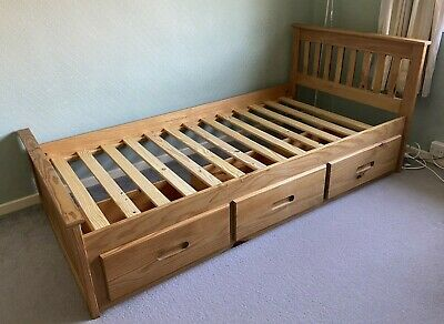 £95 • Buy Mission 3ft Pine Wooden Bed Frame- Single - 3 Drawers - Assembly Instructions