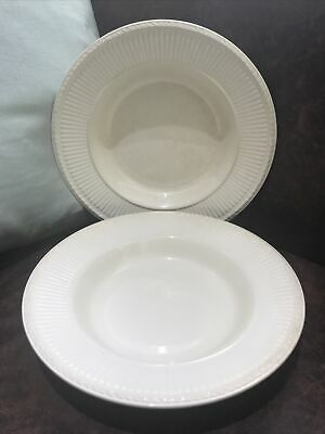 £14.99 • Buy Wedgwood - Queens Ware - EDME - Pair Of Rimmed Soup Bowls - 9