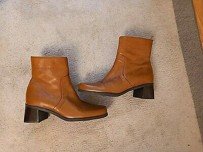 £9 • Buy Ladies Naturalizer Tan Leather Ankle Boots-size 4.5
