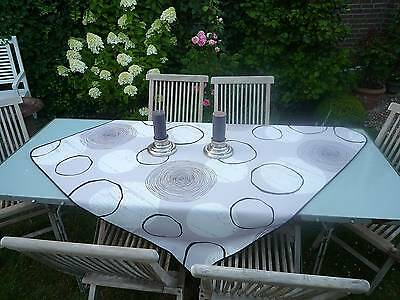 £14.82 • Buy Tablecloth Provence 130x150 CM Grey Circles From France Easy-Care Non-Iron