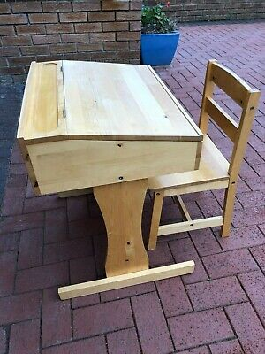 £5.20 • Buy Child's Wooden Desk And Chair - Suitable For Primary School