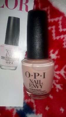 £6.99 • Buy Opi Nail Envy In Bubble Bath Pink Nail Strenghtening Treatment New 15ml Bottle