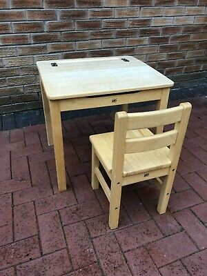 £5.60 • Buy Kid's Wooden Desk And Chair - Ideal For Primary School