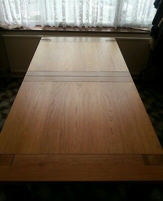 £800 • Buy M&S Sonoma Dining Table Alton Brown Leather Roll Back Chairs & Breakfast Bench