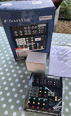 £49.95 • Buy Soundcraft 102 Notepad 10 Channel Mixer Brand New In Box